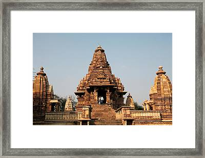 India, Khajuraho Framed Print
