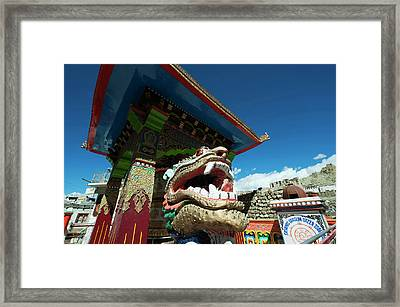 India, Ladakh, Leh, Small Colorful Framed Print by Anthony Asael