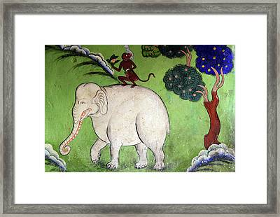 India, Ladakh, Likir, Wall Painting Framed Print by Anthony Asael