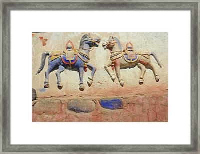 India, Ladakh, Thiksey, Indian Framed Print