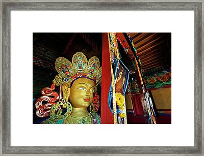 India, Ladakh, Thiksey, Picture Framed Print by Anthony Asael
