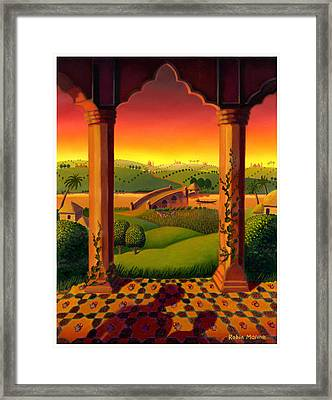 India Landscape Framed Print by Robin Moline