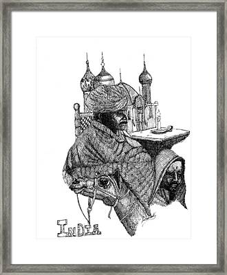 India Framed Print by Lee Halbrook