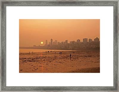 India, Maharashtra, Mumbai, Chowpatty Framed Print