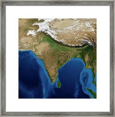 India Framed Print by Nasa