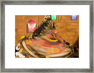 India, Rajasthan, Jaipur, Folk Dancers Framed Print by Emily Wilson