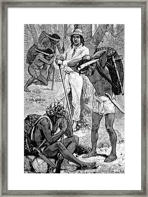 India Rubber Gatherers Framed Print