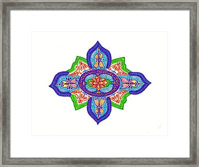 India Silk Framed Print by Marie Parker