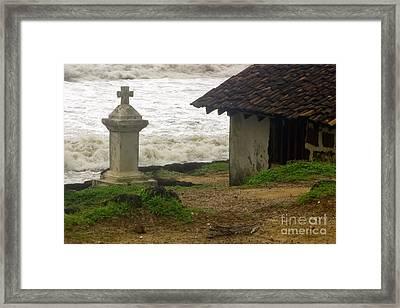 India  Wayside Cross Anjuna  Goa Framed Print
