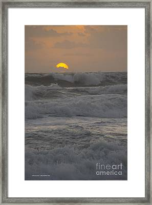 Indialantic Sunrise Framed Print
