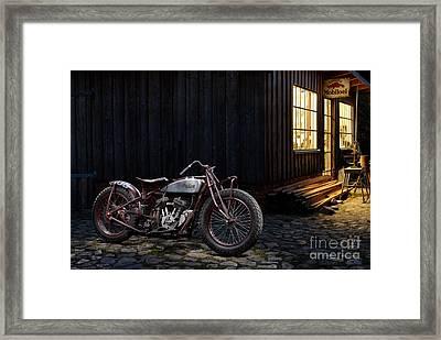 Indian 101 Scout Bobber Framed Print by Frank Kletschkus