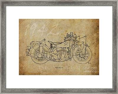 Indian 640b 1942 Framed Print by Pablo Franchi