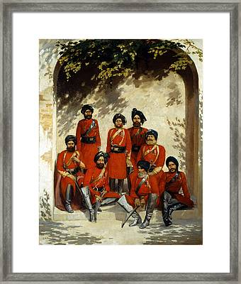 Indian Army Officers Framed Print