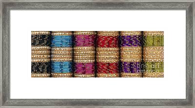 Indian Bangles Panoramic Framed Print