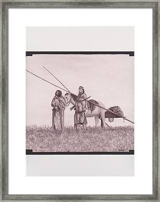 Indian Blackfoot Travis Framed Print by Billie Bowles