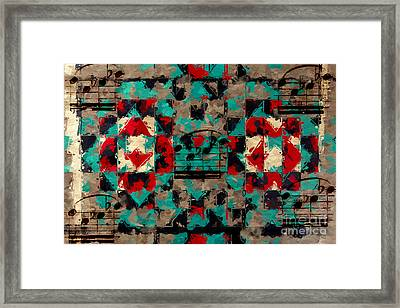 Framed Print featuring the digital art Indian Blanket Quintet by Lon Chaffin