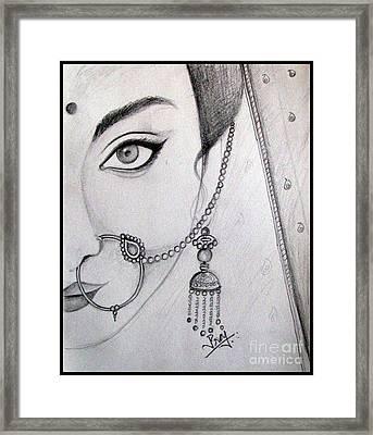 Indian Bride Framed Print