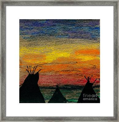 Indian Camp Framed Print