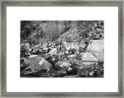 Indian Camp Framed Print by Science Photo Library