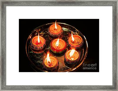 Indian Candles Framed Print