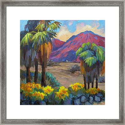 Indian Canyon In Spring Framed Print by Diane McClary