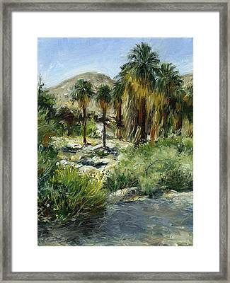 Indian Canyon Palms Framed Print by Stacy Vosberg