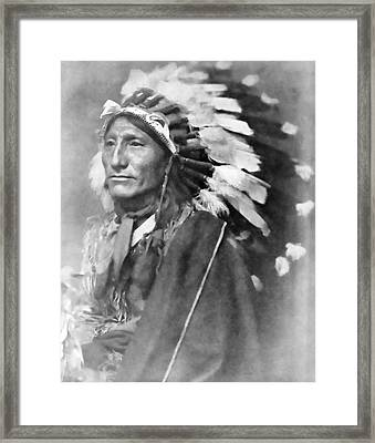 Indian Chief - 1902 Framed Print by Daniel Hagerman