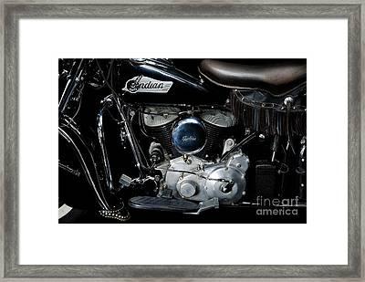 Indian Chief Blackhawk Engine Framed Print by Frank Kletschkus