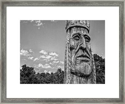Indian Chief Charlestowne Landing Framed Print