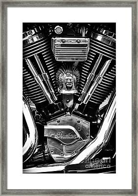 Indian Chief Engine Framed Print