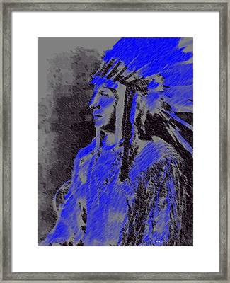 Indian Chief Framed Print by George Pedro