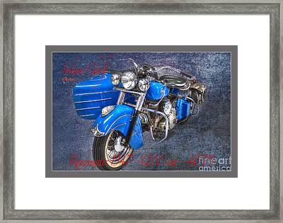 Indian Chief Motorcycle Legend Framed Print