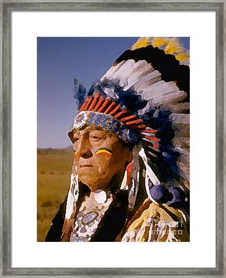 Indian Chief Painting Framed Print by Marvin Blaine