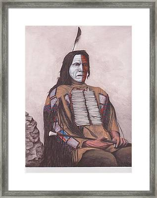 Indian Chief Red Cloud Framed Print by Billie Bowles