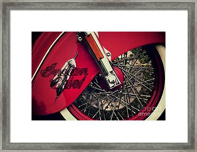 Indian Chief Spoked Wheel Framed Print