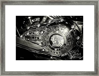 Indian Chrome 1901 Framed Print by Rene Triay Photography