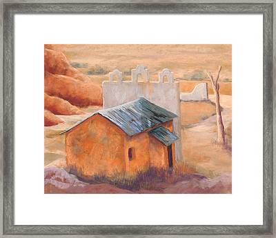 Indian Cliffs Church Framed Print by Candy Mayer
