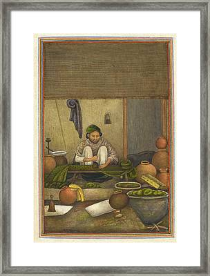 Indian Cloth Printer Framed Print by British Library