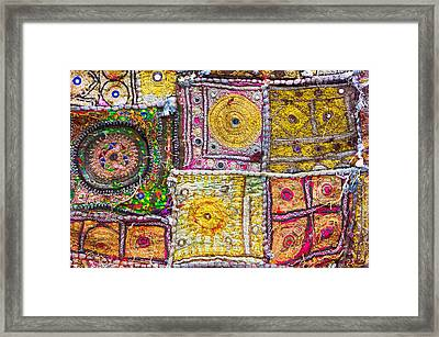 Indian Cloth Framed Print by Tom Gowanlock