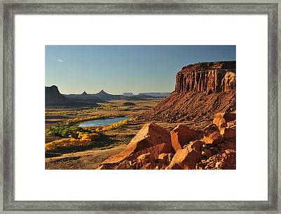 Indian Creek Framed Print by Adam Paashaus