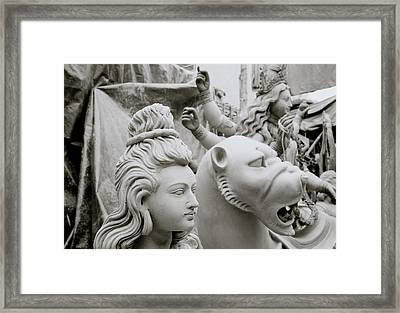 Beautiful Durga Framed Print by Shaun Higson