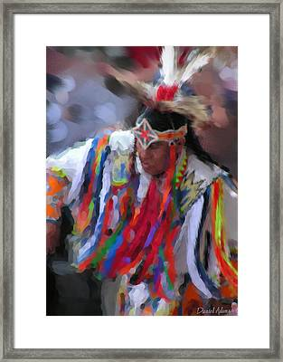 Da121 Indian Dance By Daniel Adams Framed Print