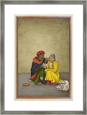 Indian Earpicker Framed Print by British Library