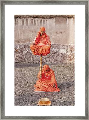 Indian Fakir Street Performers Framed Print by Antony McAulay