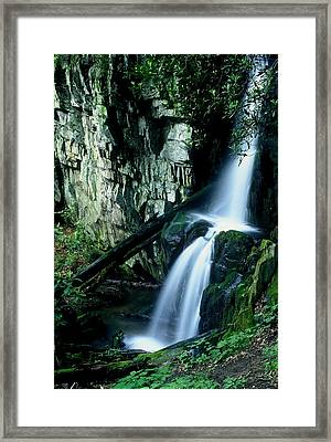 Indian Falls Framed Print by Rodney Lee Williams