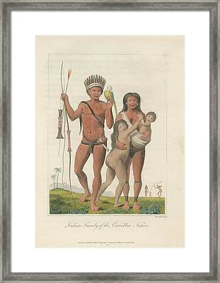 Indian Family Framed Print by British Library