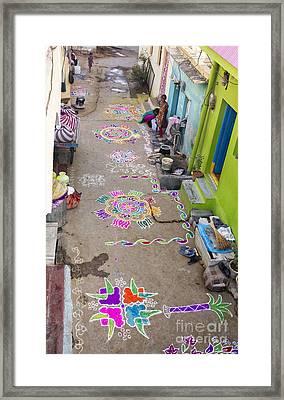 Indian Festival Morning  Framed Print