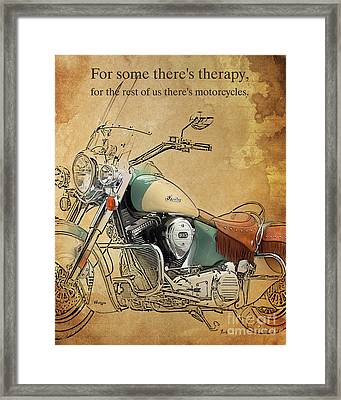 Indian - For Some There S Therapy Framed Print by Pablo Franchi