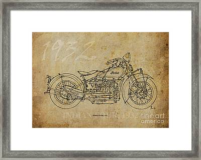 Indian Four 1932 Framed Print by Pablo Franchi