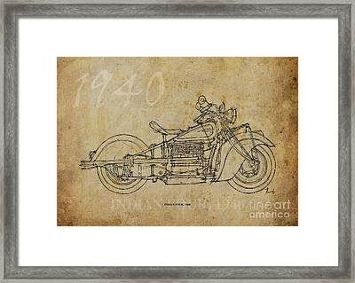 Indian Four 1940 Framed Print by Pablo Franchi